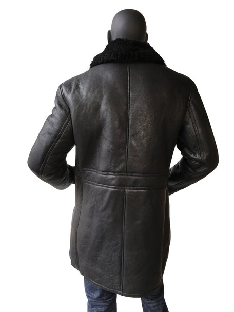 Black Sheepskin Trench Coat