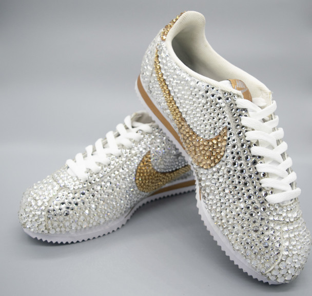 Iced out Cortez Nike Sneakers