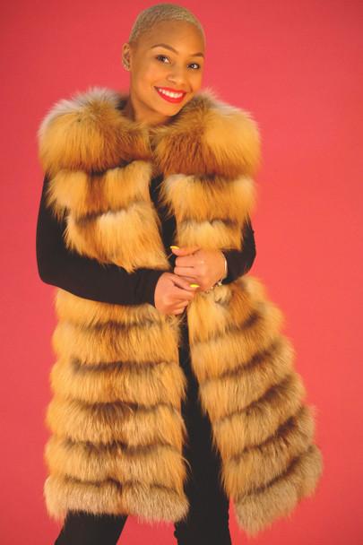 Three Quarter Fox Fur Vest