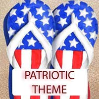 Patriotic Theme Gifts & Tropical Beach Decorations