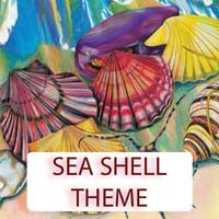 Sea Shell Theme Gifts & Tropical Beach Decorations