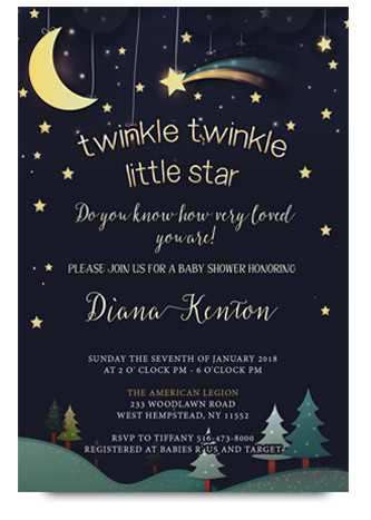 Twinkle twinkle little star baby shower invitations filmwisefo