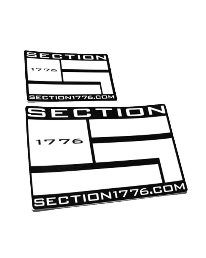 "5""x8"" White Logo Decal"