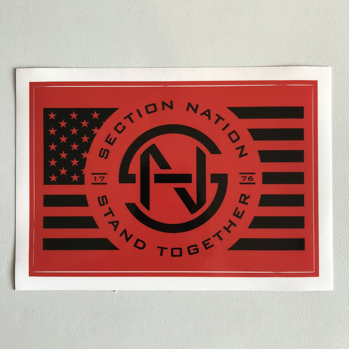 "5"" x 7.5"" Section Nation Sticker - Red"