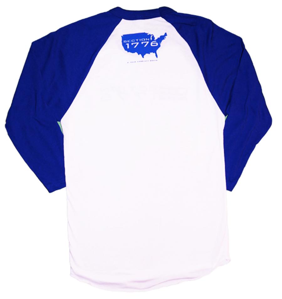 Blue 3/4 Baseball