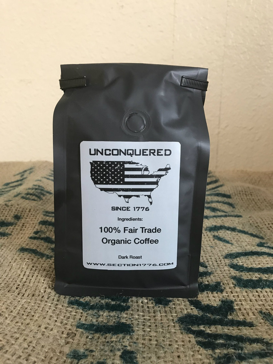 """Dark roast to help you attack the day and remain """"Unconquered""""."""