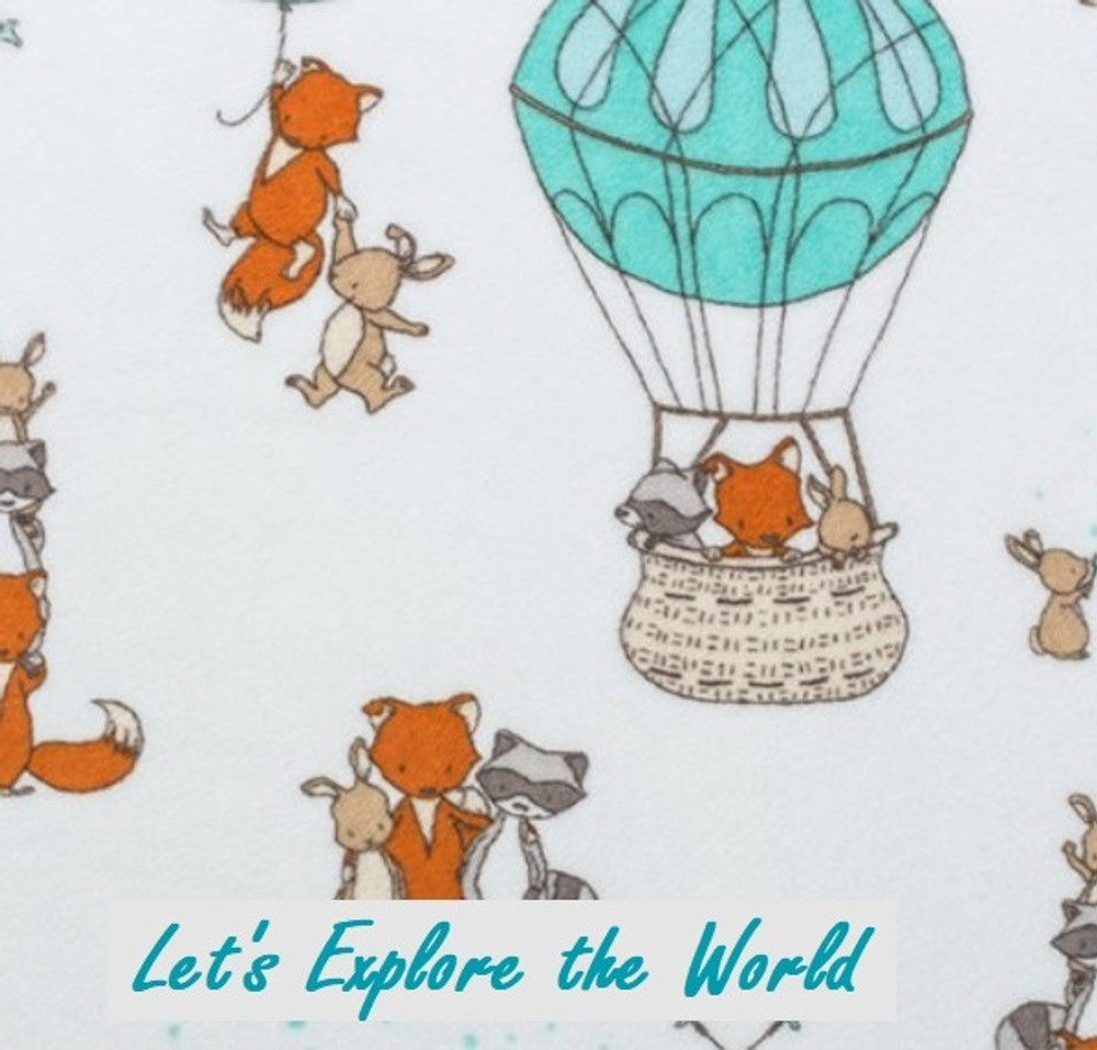 Let's Explore the World - Blanket