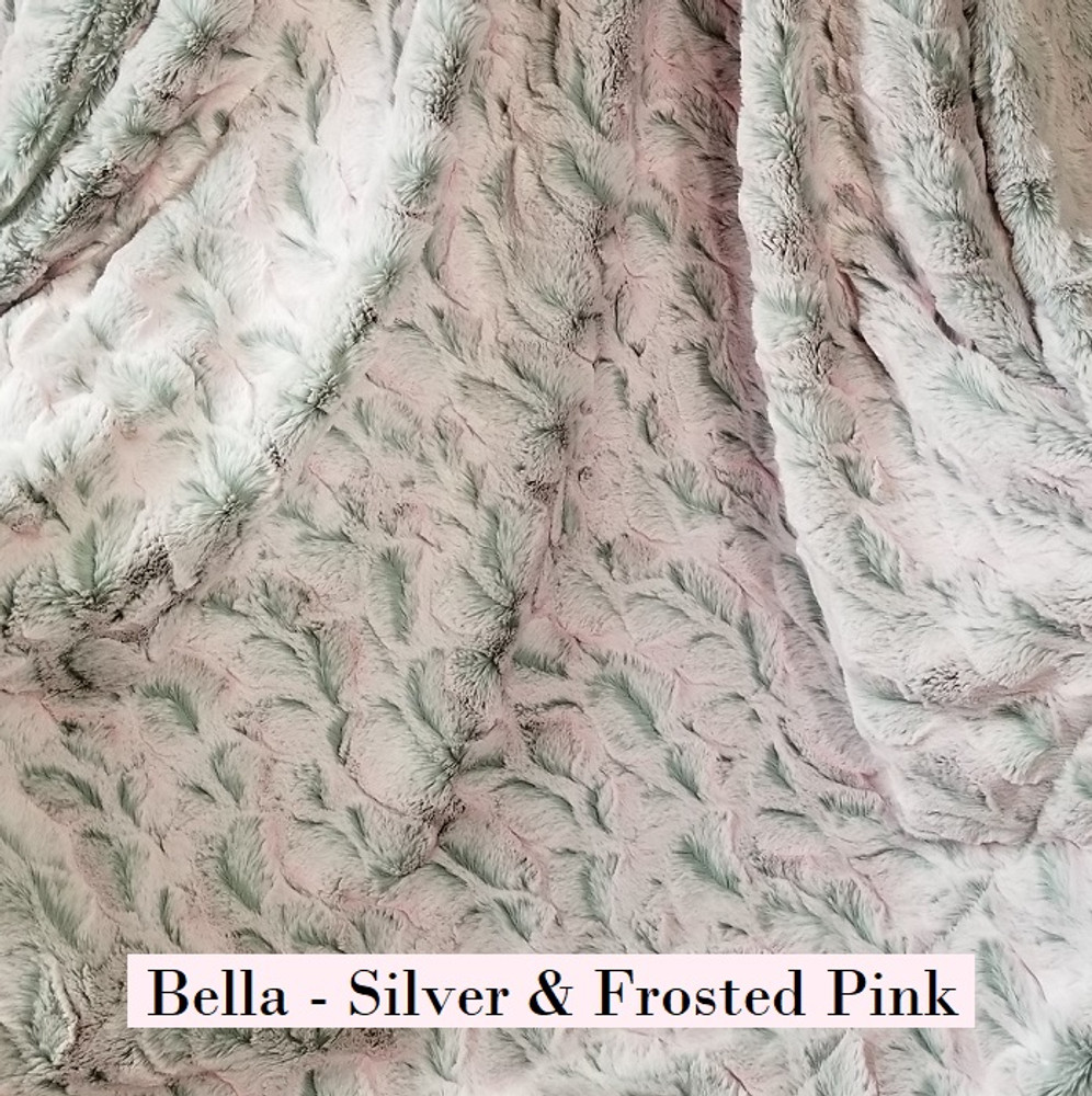 Bella in Silver & Frosted Pink - Blanket