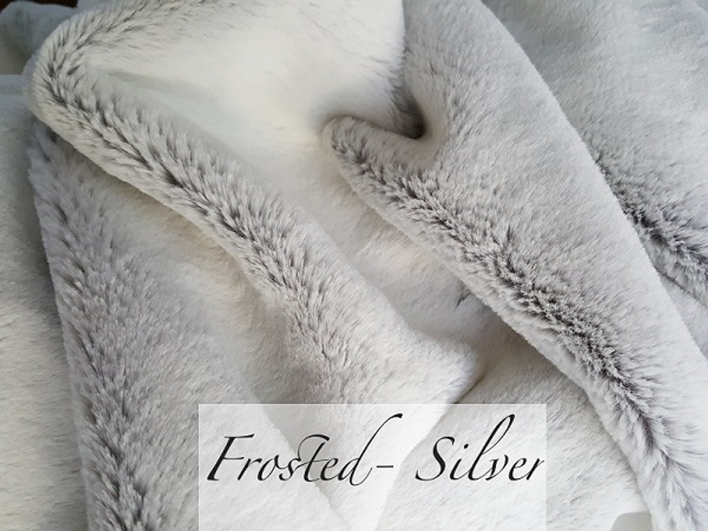 "*Frosted Silver- 30""x 40"" Blanket, DIVINE Fabric *DEAL"