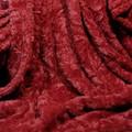 "A Garnet Red Minky- 45""x 63"" Blanket, DIVINE Fabric Back *DEAL"