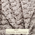 Bella in Dark Chocolate & Frosted Cream - Blanket