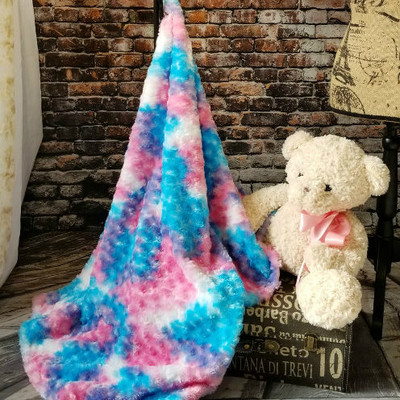 """*Roses - Cotton Candy:  30""""x40"""" Blanket w/DIVINE Fabric *Q.S."""