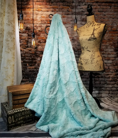 "*MINK - Sea Glass:  50"" x 60""  Blanket *QS"