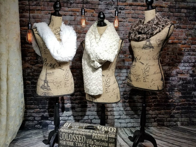 Scarf or Infinity Scarf - Faux Fur