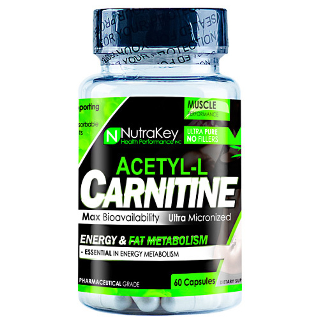 NUTRAKEY - Acetyl L-carnitine 60 capsules