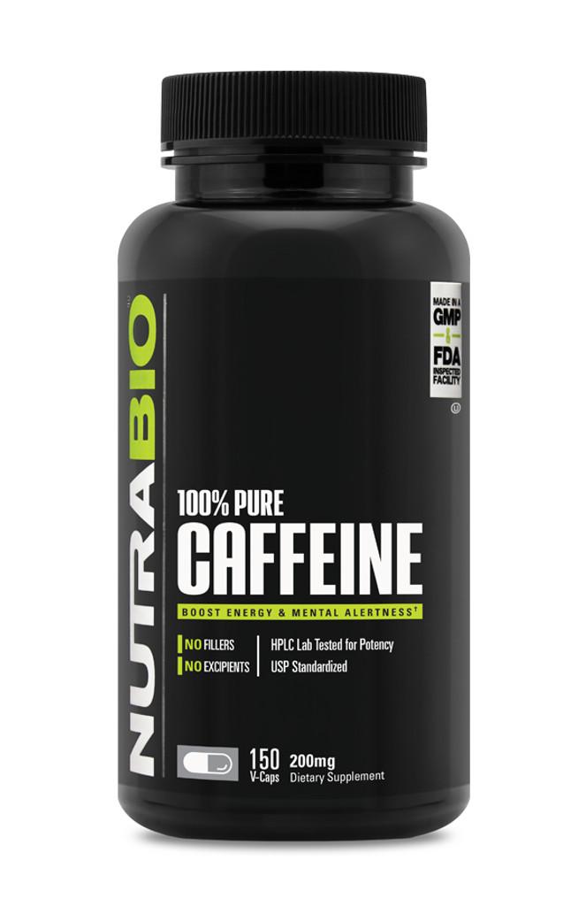 NUTRABIO - Caffeine 200mg 150 caps