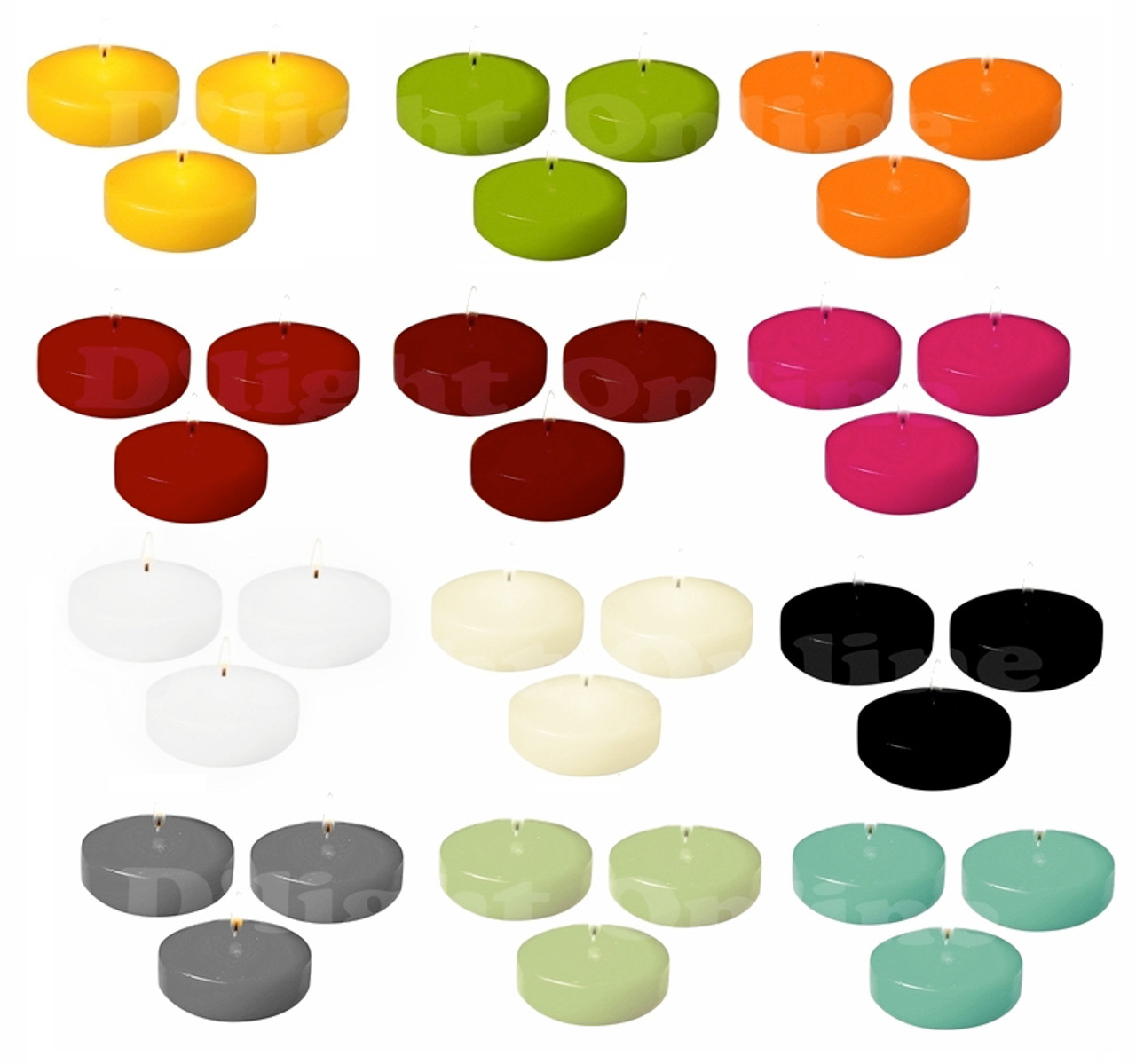 3 Quot Colored Floating Candle Disk Unscented Individually