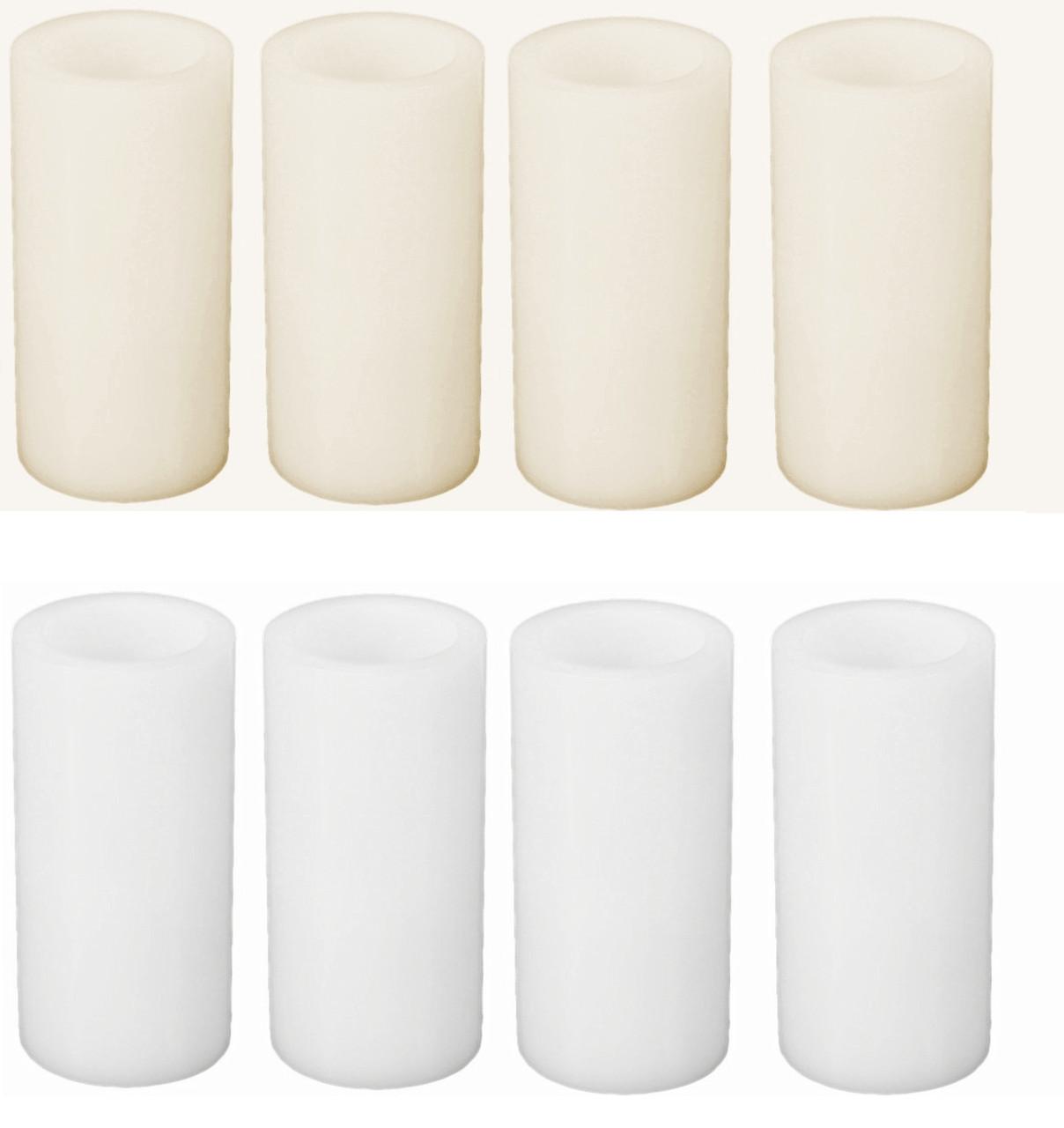 6 led flameless wax pillar candle pack 12 case wholesale. Black Bedroom Furniture Sets. Home Design Ideas