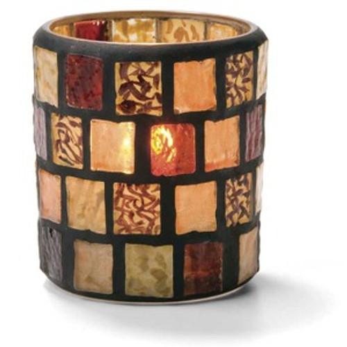 Mosaic Votive Lamp Amber