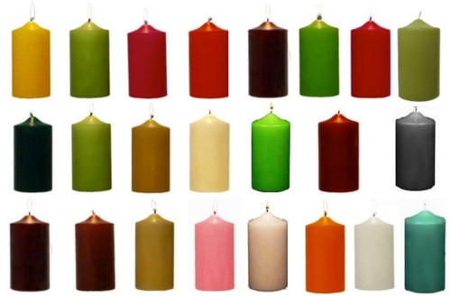 3 Quot X 6 Quot Inch Round Unscented Wholesale Colored Pillar