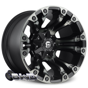 "20"" Fuel Vapor D569 Black Machined"