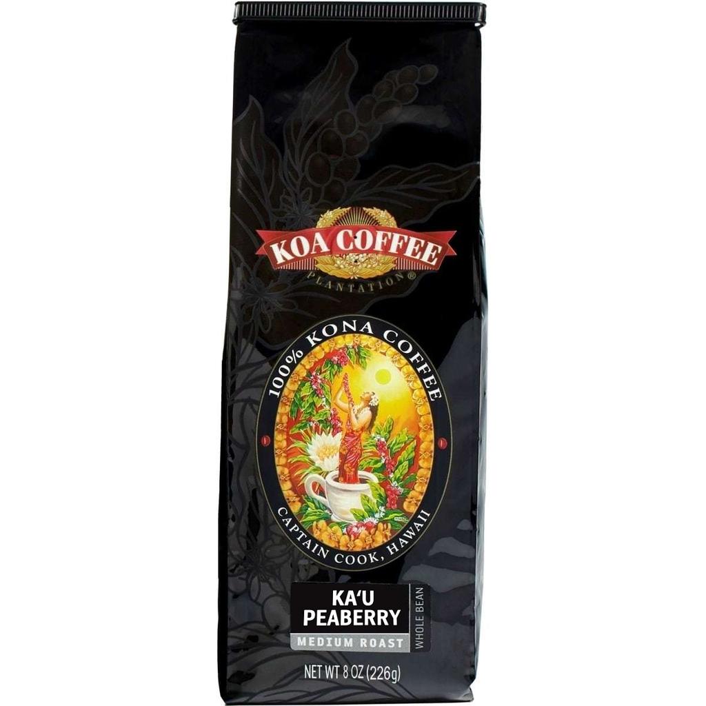 Ka'u Peaberry Medium Roast Whole Bean Hawaiian Coffee