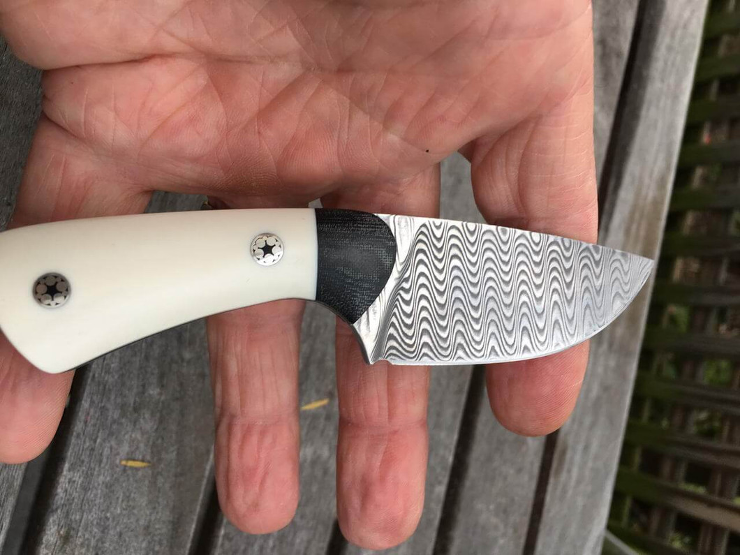 Small Skinner in Damascus and Juma Ivory Substitute