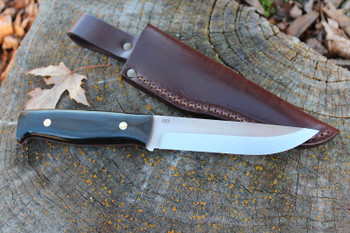 EnZo Camper Knife, Black Canvas Micarta