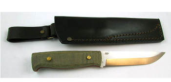 EnZo Camper Knife Kit, Green Canvas Micarta