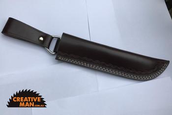 Long Sheath 160, Brown Leather