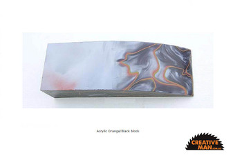 Acrylic Handle Block, Orange and Black