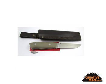 EnZo Trapper 115 Knife Kit, Flat Grind, Desert G10 (12c27)