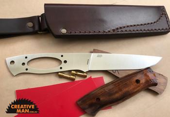EnZo Trapper Knife Kit 115, Flat Grind, ELMAX steel