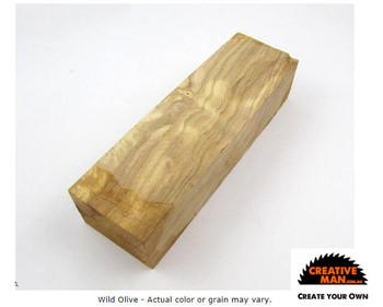 Wild Olive Wood Handle Block