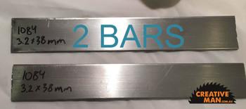 Carbon Knife Steel 1084, 3.2 x 38 x 1000 mm (2 Bars)