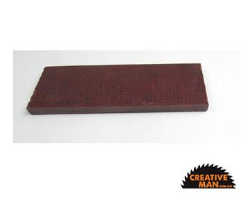 Micarta Red & Black Jute Handle Scales 7 mm, set of 2
