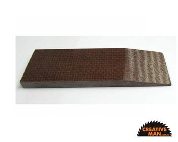 Micarta Brown Jute Handle Scales 7 mm, set of 2