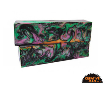 Inlace Acrylester Handle Block, Abalone