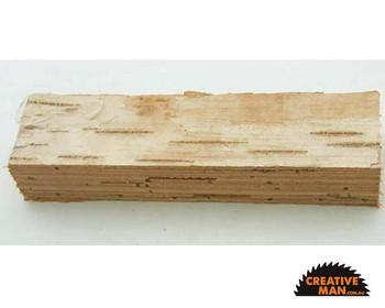 Birch Bark Handle stack 12 x 35 x 110 mm (1 piece)