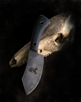 Black HoneyComb scales on a knife by Paul E Arestan, blade is RWL34 and etched (Paul's Knives on Facebook). Paul does custom knives, as well as hold courses at his workshop in Mount Nebo, QLD.