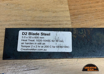 D2 Blade Steel, 3.0 x 50 x 1080 mm