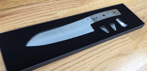 Damascus Santoku Chef Blade, Stainless Steel