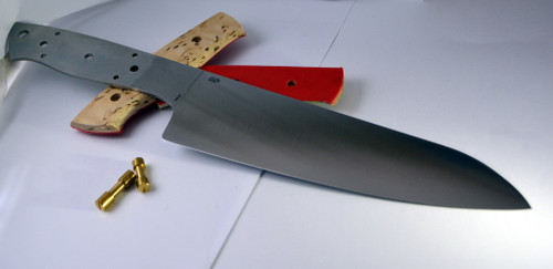 EnZo Chef 185 from Finland is a great combines Japanese Santoku style with the Western chef's demands for a hardness that allows for rougher use.