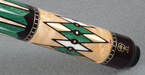 Juma Gem is used as inlay material here in a high-end pool cue from McDermott