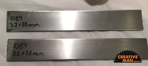 Each billet of carbon steel is 3.5 mm thick, about 50 mm wide and 500 mm long.