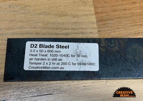 D2 Blade Steel, 3.0 x 50 x 600 mm
