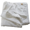 White Quilted Linen Coverlet