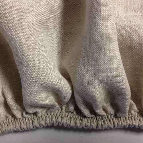 Linen Fitted Sheet TwinXL Flax. Made in USA by Linoto