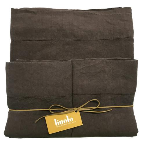 Espresso Italian Linen Sheet King Size Brown