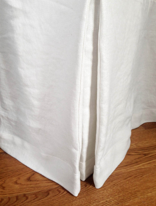 White Linen Pleated Hotel Bedskirt